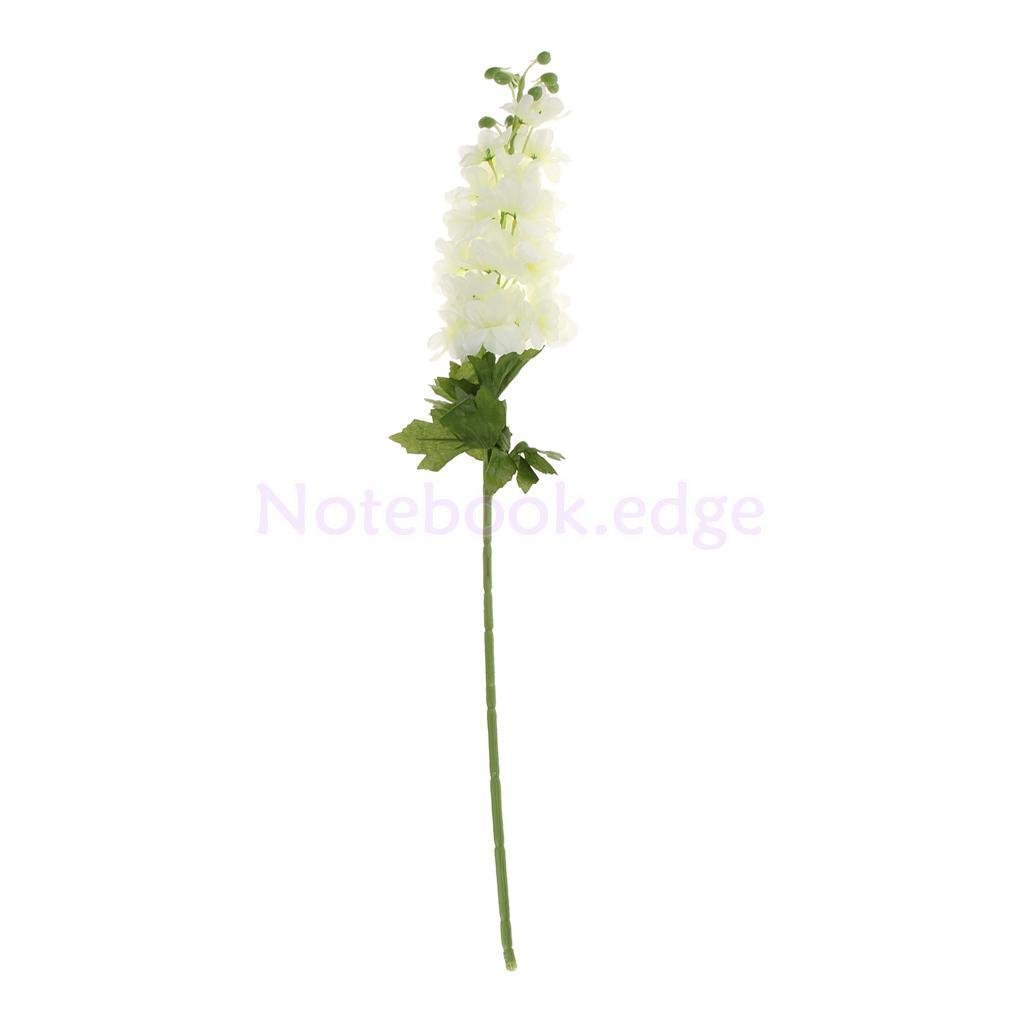 1x-DIY-Artificial-Delphinium-Bloomy-Leaves-Stem-Wedding-Decor-White