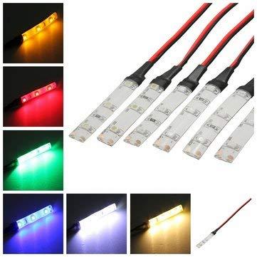 1PC DC 12V IP65 3528 3LEDs Motorcycle Car Strip Lamp - Motorcycle Lights Motorcycle Tail & Decoration Lights - (Red) - 1 X Red Car T10 5050 9SMD LED Bulb Light Lamp]()