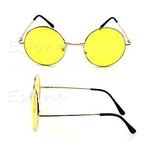 Women Colorful Lens Sunglasses Eyewear Plastic Frame Glasses Retro Round Glasses