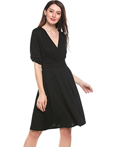 ANGVNS Crossover Sleeve Ruched Length