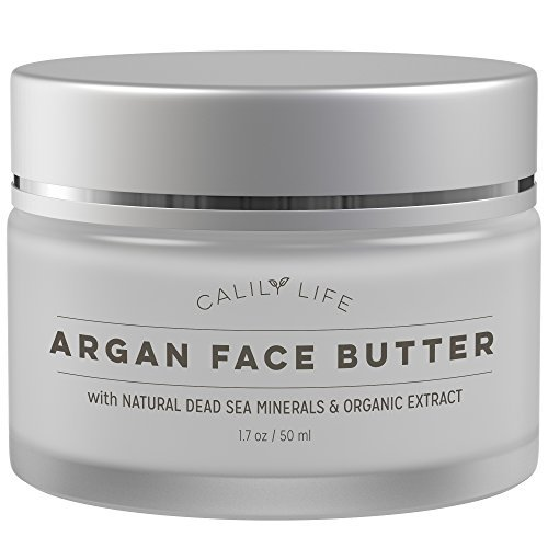 Calily Life Organic Argan Face Cream with Dead Sea Minerals, 1.7 Oz. - Ultra-Hydrating - Anti-Wrinkle and Anti-Aging - Smooths, Moisturizes and Regenerates
