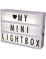 luminaria painel letreiro Light box A5 96 letras/números