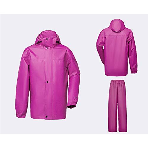 moto adulti S da da Ev Color e Kit Geyao Outdoor abbigliamento Abbigliamento per bisecato Ispessimento Impermeabili pioggia Rose Dimensione Escursionismo Rainwear di Moto Uomo donna red 8w4qn5