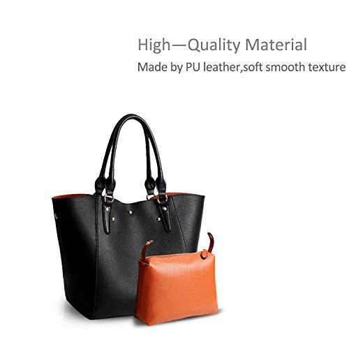 2pcs Bag Bag Doris amp; Waterproof Black Crossbody Women Handbags Tote Purses Shoulder Nicole Bag Pu Elegant Women Big S6wqxO6g