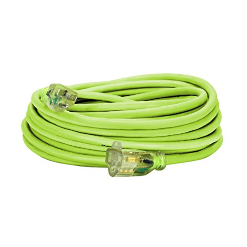 Flexzilla Pro Extension Cord, 14/3 AWG SJTW, 50 ft., Lighted