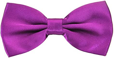 PenSee Mens Pre-tied Bowtie Shiny Adjustable Tuxedo Solid Bow Ties-More 22 Colors