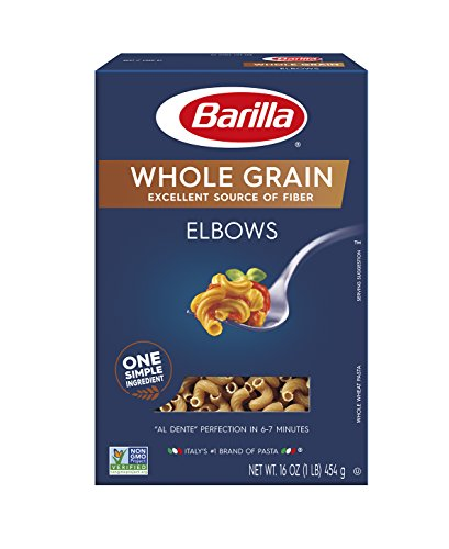 - Barilla Whole Grain Pasta, Elbows, 16 Ounce (Pack of 8)