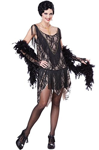 [Mememall Fashion Gatsby Gal 1920s Flapper Adult Costume] (Legend Of Sleepy Hollow Costumes)