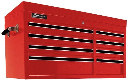 Series Tool Professional Chest Storage (Homak 41-Inch Professional Series 8-Drawer Top Chest, Red, RD02008410)