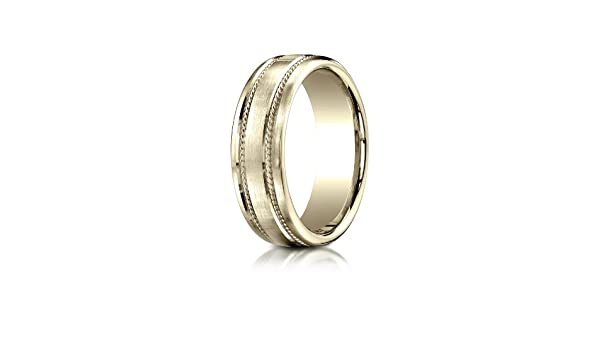 PriceRock 14K Yellow Gold 3mm Slightly Domed Super Light Comfort-Fit Wedding Band Ring for Men /& Women Size 4 to 15