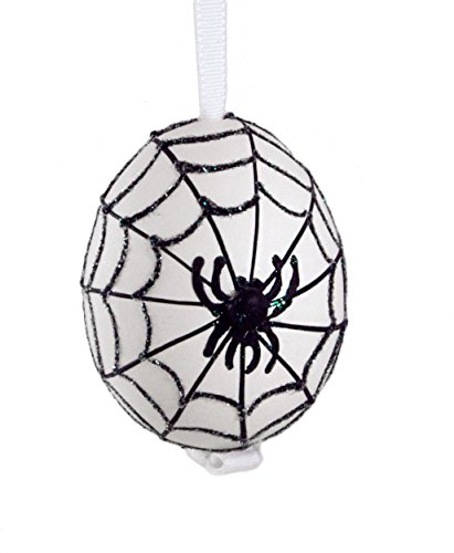 Halloween Spider Handcrafted Eggshell Hanging Ornament (In Christmas Denmark Traditions)