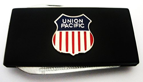 union-pacific-railroad-black-stainless-steel-money-clip-with-knife-nailfile-in-body-of-clip
