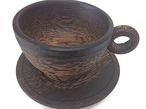 Palm Wood Tea Cup Handmade Sugar Palm Color Mug Palm Wood Morning Tea Tools Drink Glass Serving