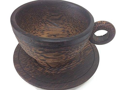 Palm Wood Tea Cup Handmade Sugar Palm Color Mug Palm Wood Morning Tea Tools Drink Glass Serving