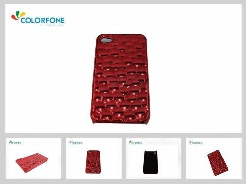 Terminal Case Effet 3D Red Water Cube de protection de couverture de cas brillant coquille cas Apple iPhone 4 4S