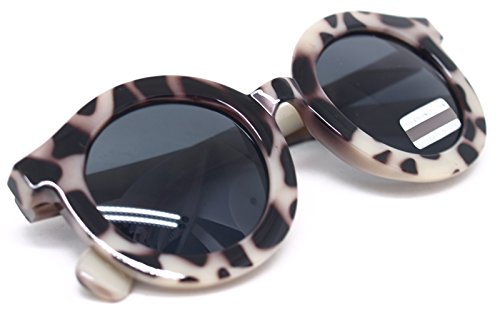 Leopard Sunglasses Fashion Vintage Designer Eyewear Frame for Women and Men (LEOPARD 7398, - Gazelle Shades