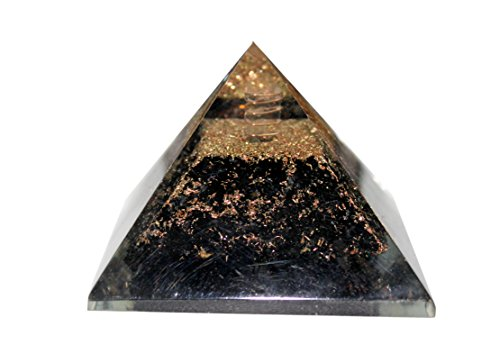 Aatm Reiki Energized Black Healing Orgone Pyramid  Stone For Protection From All Negative Energies