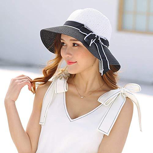 Yisaesa M Summer Piezas 5 Tamaño Sombrero Color Large Playa Pescador Para Oscuro Azul color El Lady Brim De Negro 56 Parche Sol wwFCyrqH