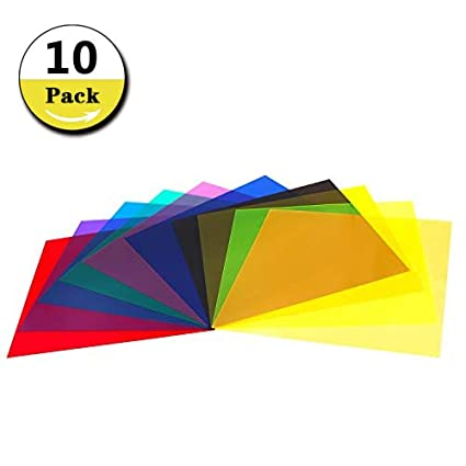 Amazoncom 10 Pieces Colored Overlays Light Gels Transparency
