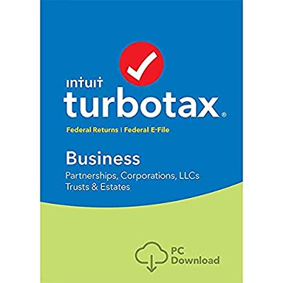 lntuit TURB0TAX Business 2018 Tax Software Fed efile Trust, C & S Corp  DownIoad Only for WIN Computers  READ DESCRIPTION