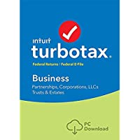 lntuit TURB0TAX Business 2018 Tax Software Fed efile Trust, C & S Corp |DownIoad Only for WIN Computers| READ DESCRIPTION