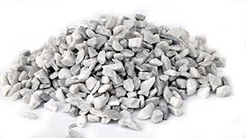 Aquarium White Gravel (Small World Slate & Stone White Marble 1/4 to 1/2 inch Gravel for Aquascaping Aquariums, Miniature Fairy Gardens and Vase Filler. (2lbs))