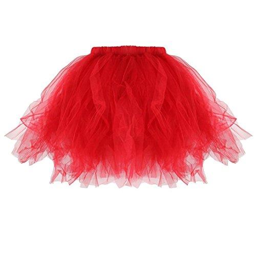 Tutu Rouge Femmes Adulte Tutu Jupes Stretchy Tonsee lastique Mini Plisses Jupe Qualit Haute Tulle jupes x0q1HnBw6U