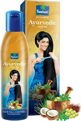 Parachute Advanced Ayurvedic Hair Oil - Controls Hair Fall Control and grows hair longer 180ml
