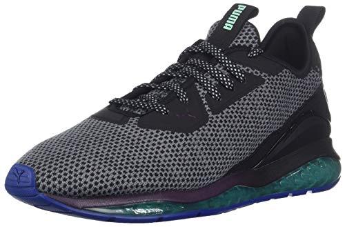 Puma Black Dark Shadow - PUMA Men's Cell Ultimate Descend Northern Lights Sneaker, Black-Shadow Purple-Biscay Green, 10.5 M US