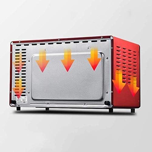 Barbecue HZY 45L Four électrique, Four de comptoir Neuf Chauffage Tubes Compris Double Cuisson Pan, Net Griller et de Cuisson Poignée Pan - Rouge