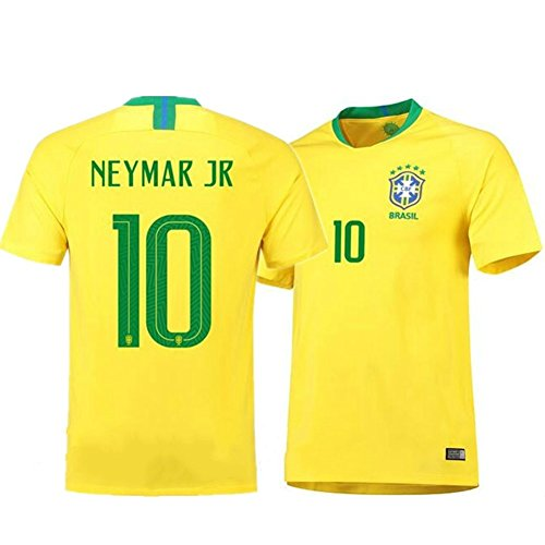 0ea37eb748a Brazil Neymar Jr  10 Brazil National Team Soccer Jersey Men s Russia World  Cup Home Yellow Adult Size