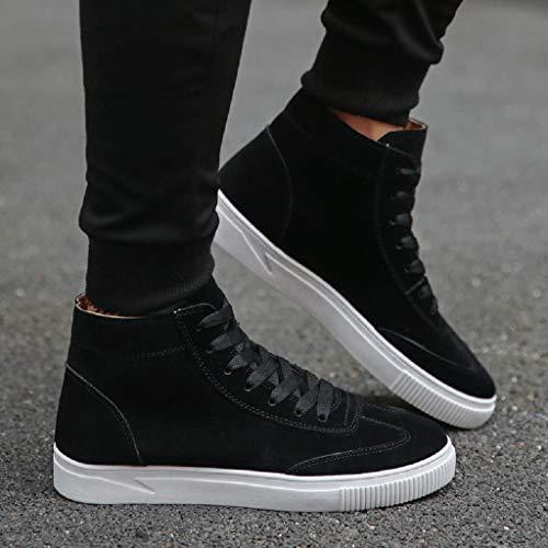 Sneakers Abcone Pelliccia Pelle Uomo Alta Stivaletti Caviglia Trekking Da Nero up Impermeabili Vintage Stivali Invernali Neve Eleganti Lace Outdoor Anteriore Scarpe rCnrqHwf