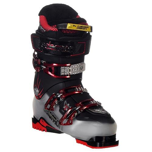 Salomon Quest 8 at Boots - Men's Ski Boots 28.5 Crystal Trans/Black (Best At Ski Boots)