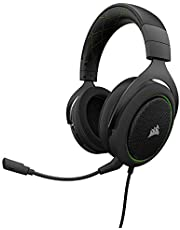 Ahorra en Corsair HS50 Stereo - Auriculares gaming con micrófono desmontable (para PC/PS4/Xbox/Switch/móvil), verde y más
