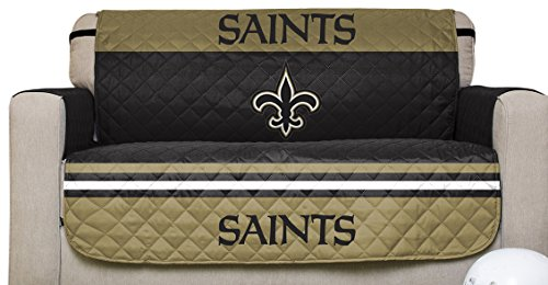 Pegasus Sports NFL New Orleans Saints Love Seat Reversible Furniture  Protector With Elastic Straps, 75