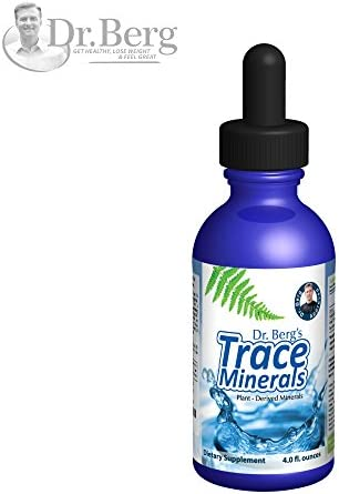 Dr. Berg s Trace Minerals Supplement 100 Organic Plant Derived Electrolyte Hydration, Enzyme Activation, Supports Metabolism for Healthy Hair, Skin Nails 4 oz Liquid