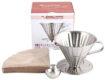 Kaffeefilter Edelstahl amazon de cafe de tiamo v02 edelstahl kaffee filter coffee