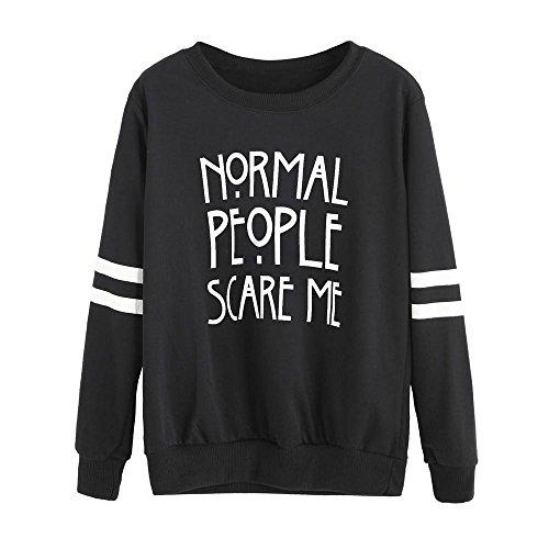 Women Pullovers, Realdo Normal People Scare Me Long Sleeve Sweatshirt Tops Pellets 1 Buck