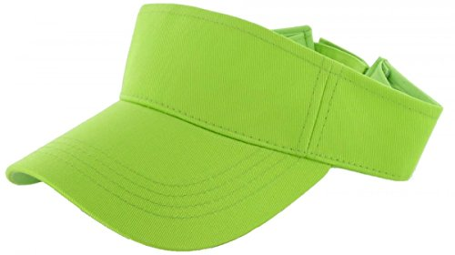 Neon Green_Plain Visor Sun Cap Hat Men Women Sports Golf Tennis Beach New Adjustable (US - Sale Summers Sunglasses For Scott