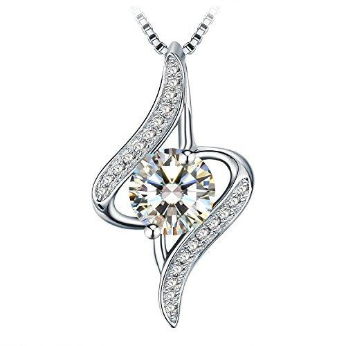 - J.Rosée Women 925 Sterling Silver Oval Cut White Cubic Zirconia 18