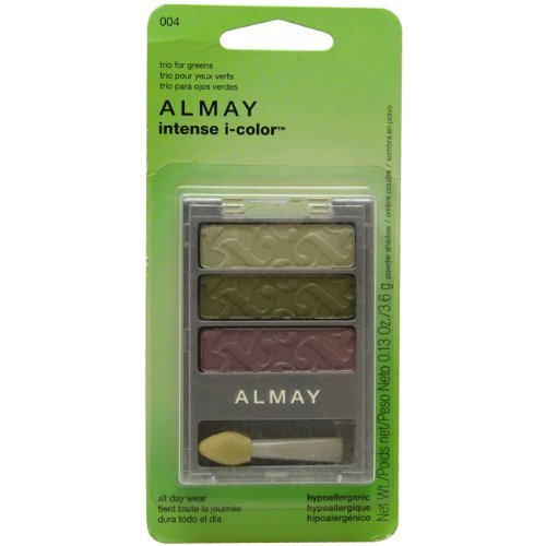 (Almay Intense i-Color Powder Shadow # 004 Trio For Greens 4 ml Eye Shadow for Women by Almay)