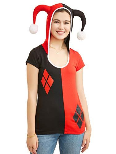 DC Comics Juniors Harley Quinn Costume Hooded T-Shirt (XXXL -