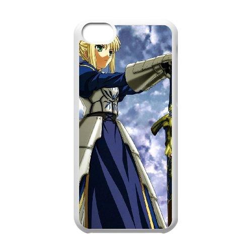 Fate Stay Night 014 coque iPhone 5C Housse Blanc téléphone portable couverture de cas coque EOKXLLNCD12882