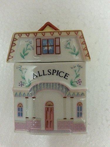 ALLSPICE 'Lenox Spice Village' Porcelain Victorian House Spice Jar