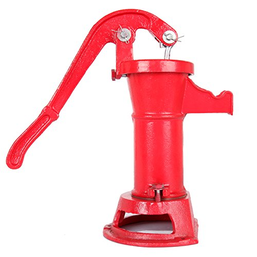 Ridgeyard 1160/ PP500NL Pitcher Hand Water Pump #2 Cast Iron Press Suction Outdoor Yard Ponds Garden Red