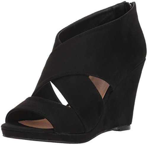 Michael Antonio Women's Anie Wedge Sandal, Black, 8.5 M US from Michael Antonio