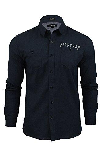 Firetrap Lisford Herrenhemd, mitternachtsblau