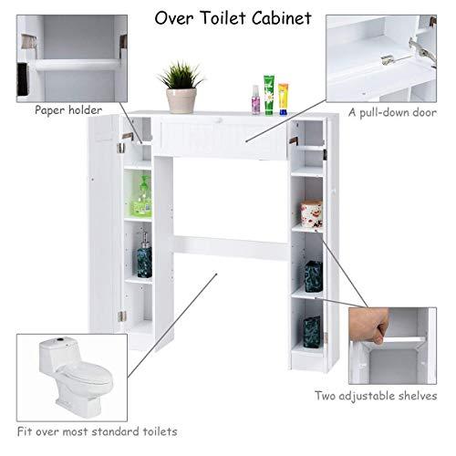 Giantex Over The Toilet Bathroom Storage Cabinet Wooden
