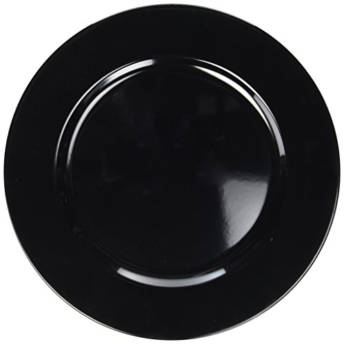 ChargeIt! by Jay Black Round Charger Plate by ChargeIt by Jay