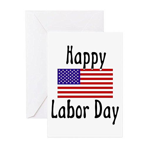CafePress - Happylabor - Greeting Card (20-pack), Note Card with Blank Inside, Birthday Card - Union Card Gift Square